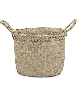Olli Ella Billy Basket Medium, Natural – Handmade! Toy Storage Boxes
