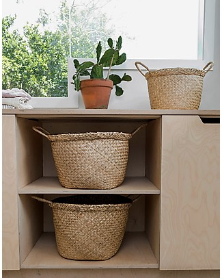 Olli Ella Billy Basket Medium, Natural - Handmade! Toy Storage Boxes