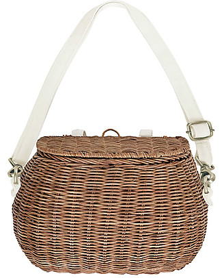 Olli Ella Chari Mama Rattan Bag 28 x 19 x 18 cm, Natural - From bag to bike basket!  Tote Bags