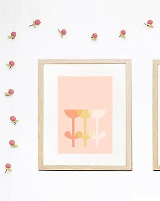 Olli Ella Felt Fruit Garland, Pink – Handmade! Bunting