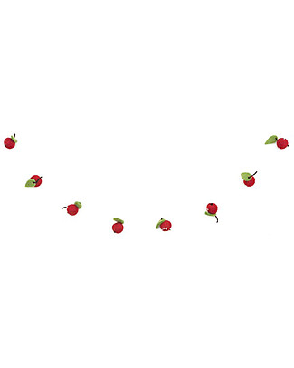 Olli Ella Felt Fruit Garland, Red – Handmade! Bunting