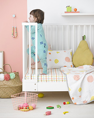 Olli Ella Fitted Sheet, Tartine - 100% Organic Cotton  Bed Sheets