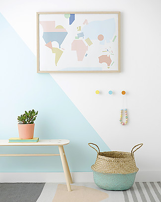Olli Ella Medium Belly Basket, Mint Dipped – Handmade! Toy Storage Boxes