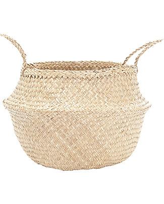 Olli Ella Medium Belly Basket, Natural – Handmade! Toy Storage Boxes