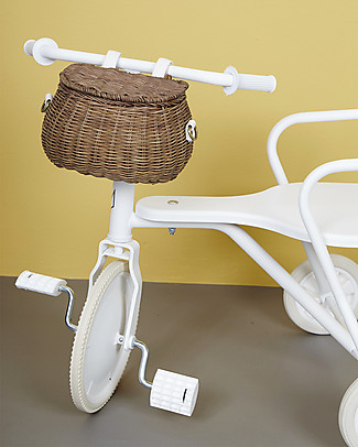 Olli Ella Mini Chari Rattan Bag 20 x 16 x 13 cm, Natural - From bag to bike basket!  Tote Bags
