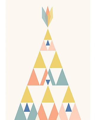 Olli Ella Nursery Wall Art, Mesa - A3 size Posters