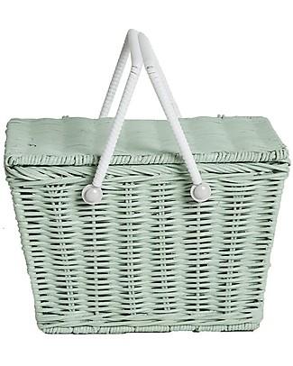 Olli Ella Piki Basket, Mint 23 x 15 x 15 cm - Fair trade, handmade! null