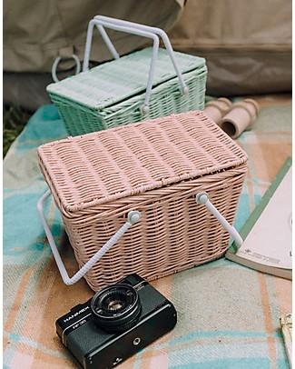 Olli Ella Piki Basket, Mint 23 x 15 x 15 cm - Fair trade, handmade! Toy Storage Boxes