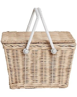 Olli Ella Piki Basket, Straw 23 x 15 x 15 cm - Fair trade, handmade! null