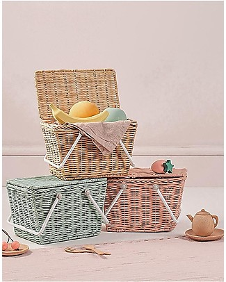 Olli Ella Piki Basket, Straw 23 x 15 x 15 cm - Fair trade, handmade! Toy Storage Boxes
