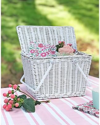 Olli Ella Piki Basket, White 23 x 15 x 15 cm - Fair trade, handmade! null