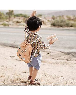 Olli Ella Play'n'Pack Drawstring Bag with Travel Toys, Jungle Small Backpacks