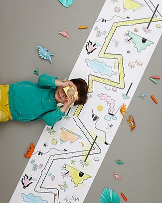 Olli Ella Playpa Jungle, Colouring Poster - 8 Metres Roll! Colouring Activities