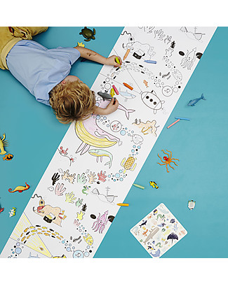 Olli Ella Playpa Ocean, Colouring Poster - 8 Metres Roll! Colouring Activities