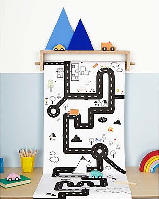 Olli Ella Playpa Road, Colouring Poster - 8 Metres Roll! Colouring Activities