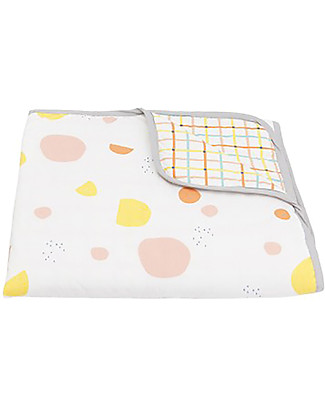 Olli Ella Reversible Play Blanket, Terra/Tartine – 100% Organic Cotton Blankets