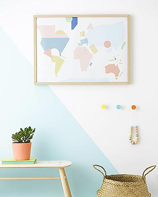 Olli Ella World Map Nursery Wall Art– 50 x 70 cm! Posters