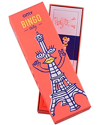 Omy Bingo Game - 12 Bingo Cards with Illustration of the World! Board Games