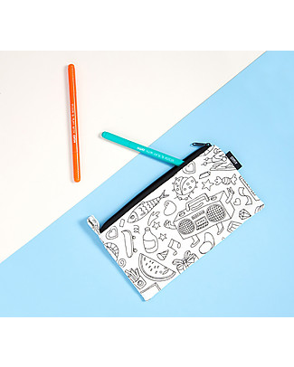 Omy Colouring Pencil Case - 100% cotton Colouring Activities