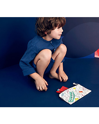 Omy Colouring Pencil Case - 100% cotton null