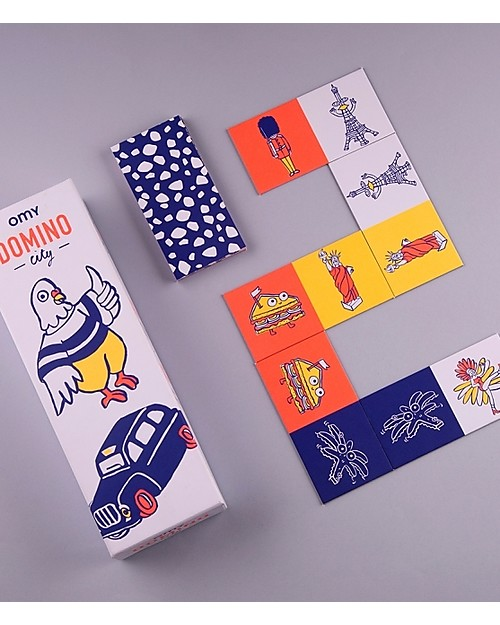 Omy Dominoes Game - 28 Cards with Illustration of the World! Board Games