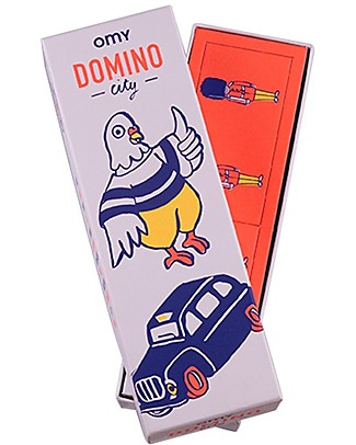 Omy Dominoes Game - 28 Cards with Illustration of the World! Party Favours