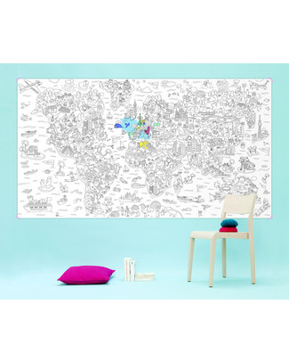 Omy Giant Atlas Colouring Page (180 x 98 cm) - Printed on Recycled Paper! Colouring Activities