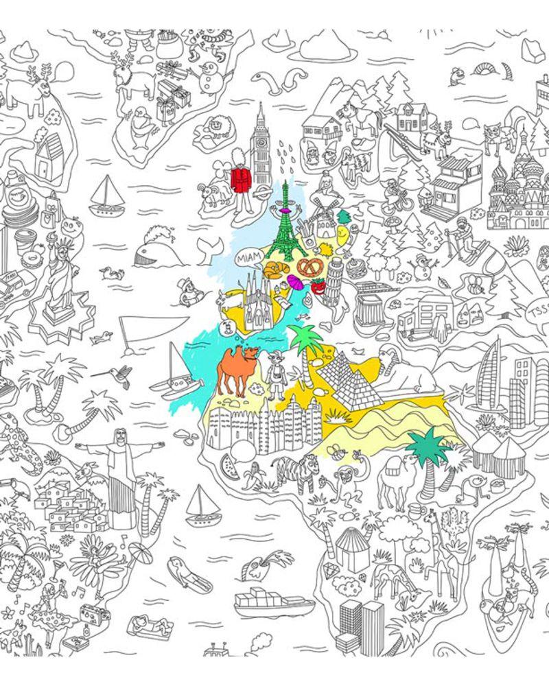 Paris coloring pages - OMY DESIGN | 1000x800