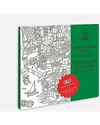 Omy Italy - Giant Colouring Poster (100 x 70 cm) - Printed on recycled paper! Colouring Activities