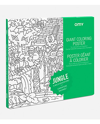 Omy Jungle Giant Colouring Poster (100 x 70 cm) - Printed on recycled paper! Colouring Activities
