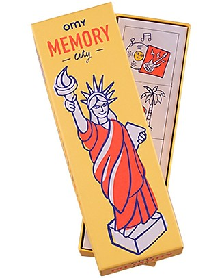 Omy Memory Game - 56 Cards with Illustrations of the World! Party Favours
