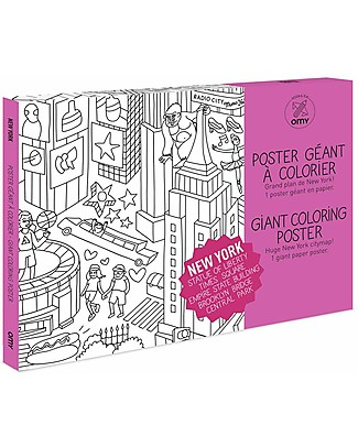 Omy New York Colouring Poster (70 x 100 cm) - Printed on recycled paper! Colouring Activities