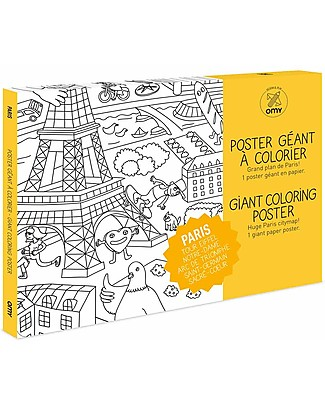 Omy Paris Colouring Poster (70 x 100 cm) - Printed on recycled paper! Posters