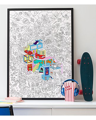 Omy Party Giant Colouring Poster (100 x 70 cm) - Printed on recycled paper! Posters
