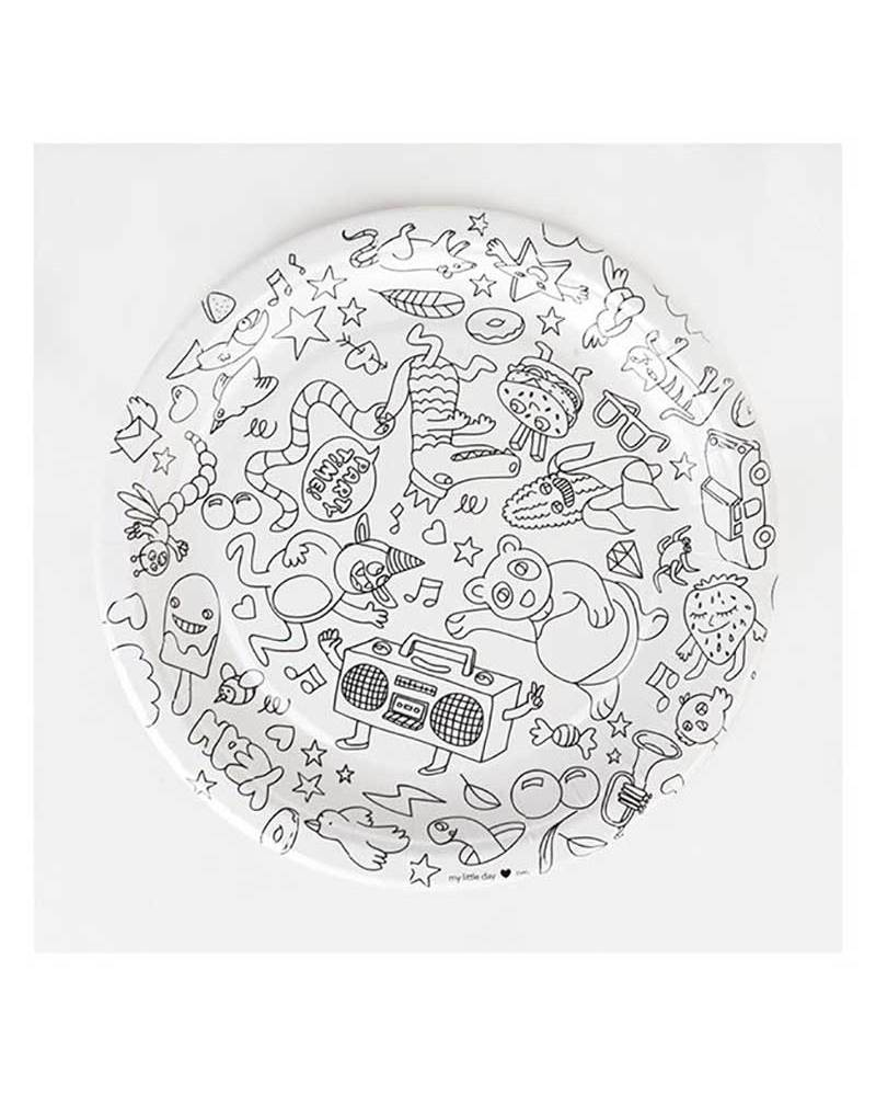 Omy Set of 8 colour-in party plates - printed on recycled paper! Colouring  sc 1 st  Family Nation & Omy Set of 8 colour-in party plates - printed on recycled paper ...