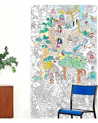 Omy Tales and Legend XXL Colouring Poster (180 x 100 cm) - Printed on recycled paper! Colouring Activities