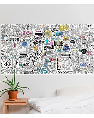 Omy XXL Happy Colouring Poster (180 x 100 cm) - Printed on Recycled Paper! Colouring Activities