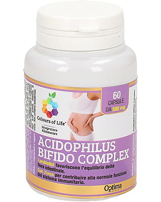 Optima Naturals Acidophilus Bifido Complex 60 Tablets - Intestinal flora Balance Food Supplement