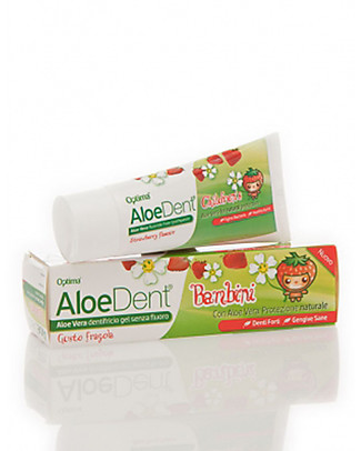 Optima Naturals AloeDent Junior ToothPaste Strawberry Flavour, 50 ml - for Children Toothpaste and Toothbrush