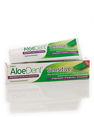 Optima Naturals AloeDent Sensitive Toothpaste, 100 ml - for Sensitive Gums and Teeth Toothpaste and Toothbrush