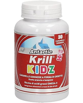 Optima Naturals Antartic Krill Kidz, 30 Gums, 2,5 g - with Omega-3 Food Supplement