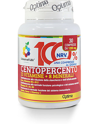 Optima Naturals Centopercento, 30 tablets - Nutritional supplement Food Supplement