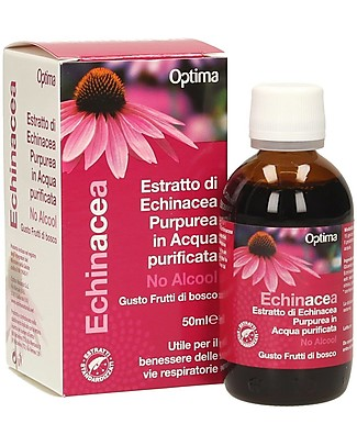 Optima Naturals Echinacea Extract no alcohol Kids, 50 ml - for Respiratory Tract Infections Natural Remedies