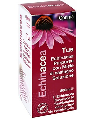 Optima Naturals Echinacea Tus Solution, 200 ml - For the Cough Natural Remedies