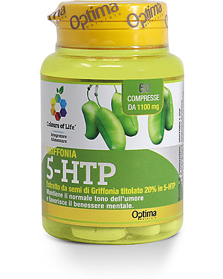 Optima Naturals Griffonia 5-HTP, 60 Tablets - Promotes Well-Being Food Supplement
