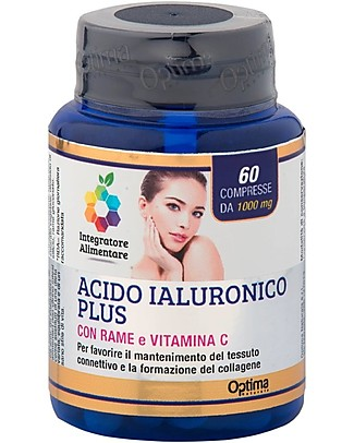 Optima Naturals Hyaluronic Acid Plus, 60 Tablets - for Connective Issue and Collagen Food Supplement