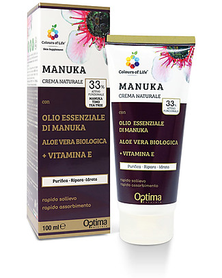 Optima Naturals Natural Eudermic Cream Manuka, 100 ml - against acne  Body Lotions And Oils