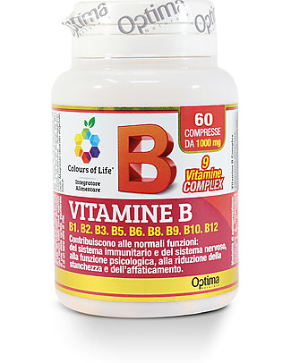 Optima Naturals Vitamin B Complex, 60 Tablets - for Fatigue and Stress Food Supplement