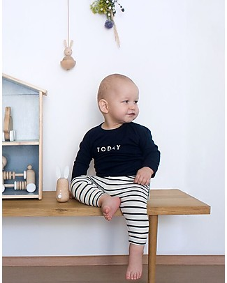 Organic Zoo Breton Stripy Pants, Black and White - Comfortable and safe Trousers