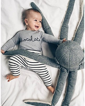 Organic Zoo Chocolate Bodysuit, Grey - Organic Cotton and Quality! Long Sleeves Bodies